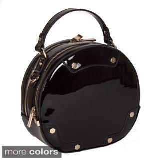 Lithyc 'Vixen' Patten Round Vegan Leather Tote Handbag