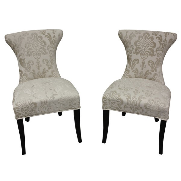 cosmo cream fan damask dining chair set of 2 free carmilla blue damask dining chair pier 1 imports