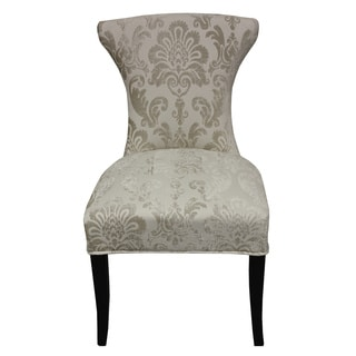 Cosmo Cream Fan Damask Dining Chair (Set of 2)