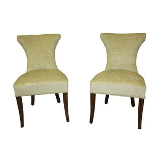 Cosmo Two-tone Green Velvet/ Apple Regency Dining Chair (Set of 2)