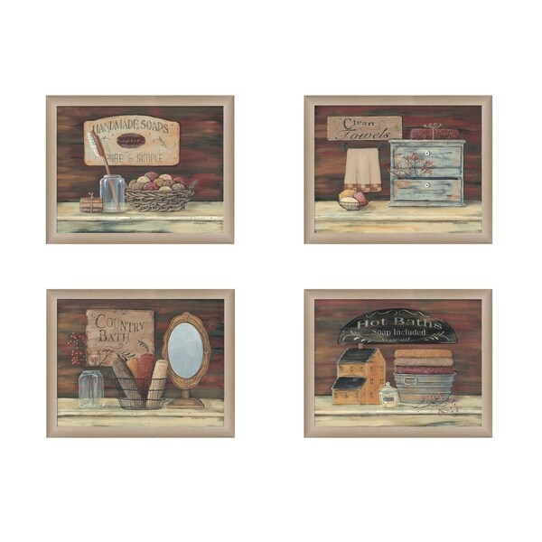 Shop Bathroom Ii Collection By Pam Britton Printed Wall Art Ready To Hang Framed Poster