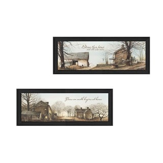 """Farms"" Collection By John Rossini, Printed Wall Art, Ready To Hang Framed Poster, Black Frame"