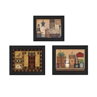"""""""Primitive Saltbox"""" Collection By Carrie Knoff, Printed Wall Art, Ready To Hang Framed Poster, Black Frame"""