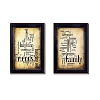 """Friends and Family"" Collection By Susan Ball, Printed Wall Art, Ready To Hang Framed Poster, Black Frame"