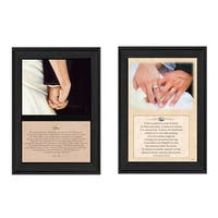 """Marriage"" Collection By B. Mohr and J. Spivey, Printed Wall Art, Ready To Hang Framed Poster, Black Frame"