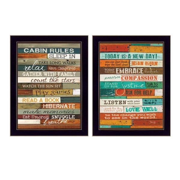 """Wood Plank"" Collection By Marla Rae, Printed Wall Art, Ready To Hang Framed Poster, Black Frame"