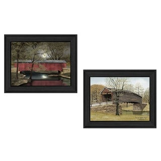 """Bridges"" Collection By Billy Jacobs, Printed Wall Art, Ready To Hang Framed Poster, Black Frame"