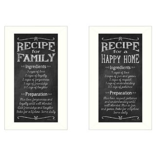 """""""Family Recipe"""" Collection By Susan Ball, Printed Wall Art, Ready To Hang Framed Poster, White Frame"""