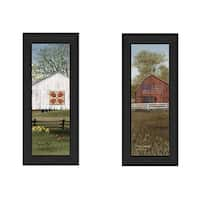 """Country Barns"" Collection By Billy Jacobs, Printed Wall Art, Ready To Hang Framed Poster, Black Frame"