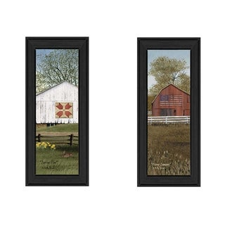 """""""Country Barns"""" Collection By Billy Jacobs, Printed Wall Art, Ready To Hang Framed Poster, Black Frame"""