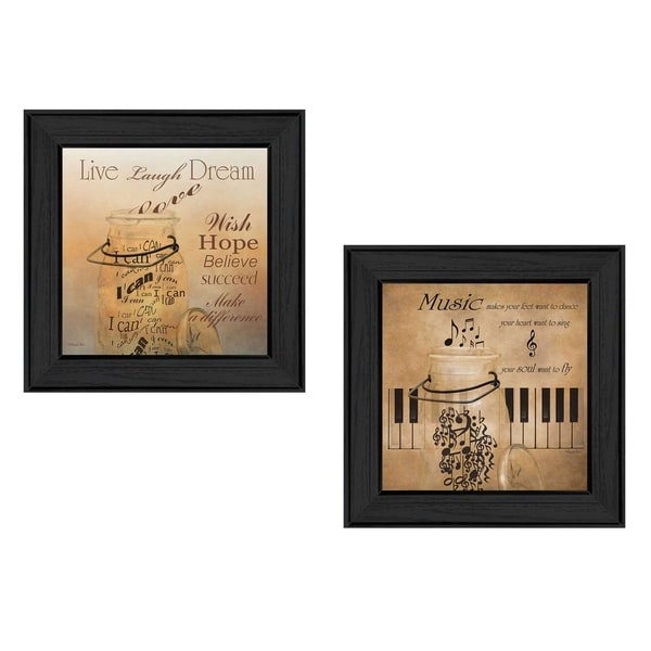 """""""Music"""" Collection By Robin-Lee Vieira, Printed Wall Art, Ready To Hang Framed Poster, Black Frame. Opens flyout."""