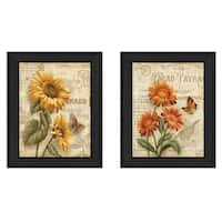 """""""Flowers"""" Collection By Ed Wargo, Printed Wall Art, Ready To Hang Framed Poster, Black Frame"""