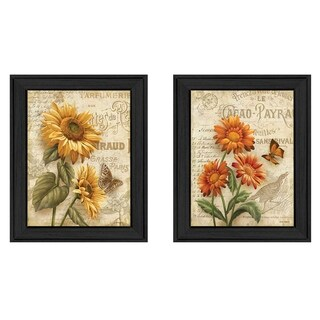 """Flowers"" Collection By Ed Wargo, Printed Wall Art, Ready To Hang Framed Poster, Black Frame"