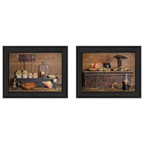 """""""Rustic"""" Collection By Billy Jacobs, Ready to Hang Framed Wall Art, Black Frame"""