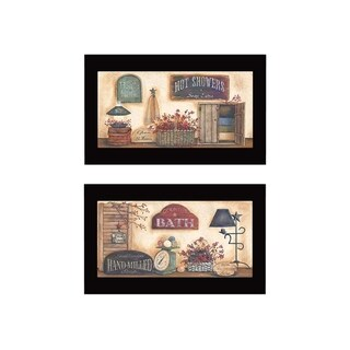 """Link to """"Bath"""" Collection By Pam Britton, Printed Wall Art, Ready To Hang Framed Poster, Black Frame Similar Items in Sinks"""