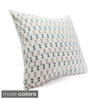 Silk Blockprint Diamonds Pillow Cover (India)