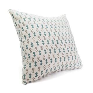 Silk Blockprint Diamonds Pillow Cover (India)