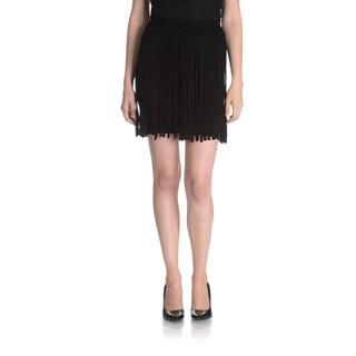 Chelsea & Theodore Women's Thick Fringe Mini Skirt