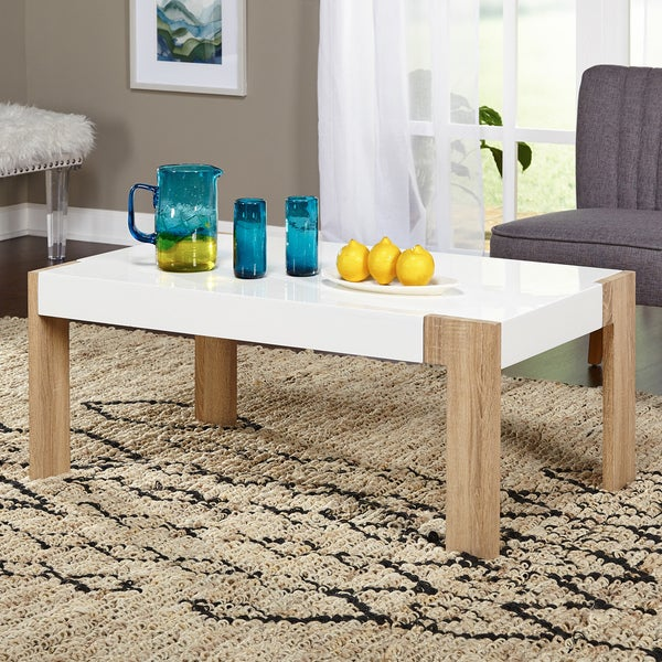 simple living smart coffee table - free shipping today - overstock