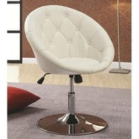 Porch and Den Ellis Faux Leather Upholstered Steel Swivel Chair