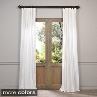 exclusive fabrics vintage cotton velvet 108 inch length curtain panel 17661759. Black Bedroom Furniture Sets. Home Design Ideas