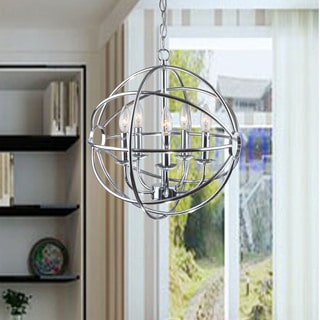 Clay Alder Home Hanover Chrome Glam Orb 5-light Iron Chandelier