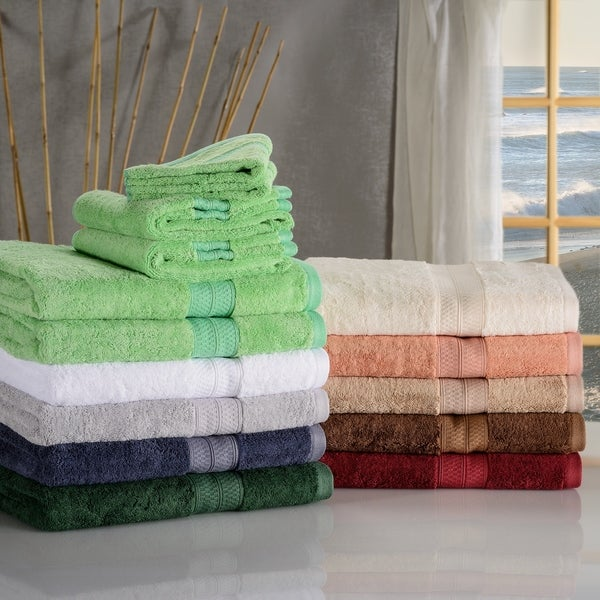 Miranda Haus Soft, Absorbent Rayon from Bamboo and Cotton 6-piece Towel Set