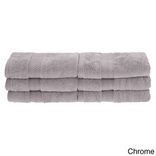 Superior Soft, Absorbent Rayon from Bamboo and Cotton Hand Towel (Set of 6) (Option: CHROME)