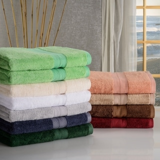 Superior Collection Soft, Absorbent Rayon from Bamboo and Combed Cotton Bath Towels (Set of 2)