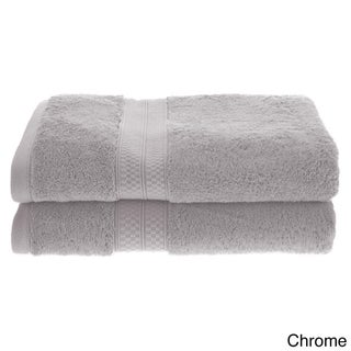 Superior Soft, Absorbent Rayon from Bamboo and Cotton Bath Towel (Set of 2) (Option: Chrome)