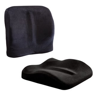 ObusForme Black Sit-back Dual Purpose Cushion