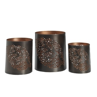 Elements Leaf Punched Luminary (Set of 3)