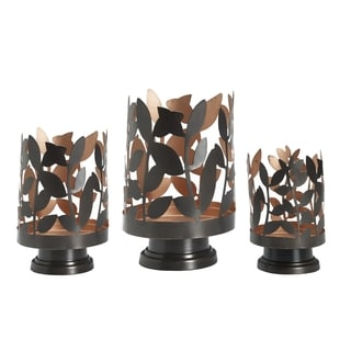 Elements Leaf Metal Luminaries (Set of 3)