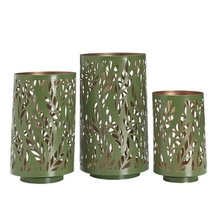 Elements Green Leaf Luminary (Set of 3)