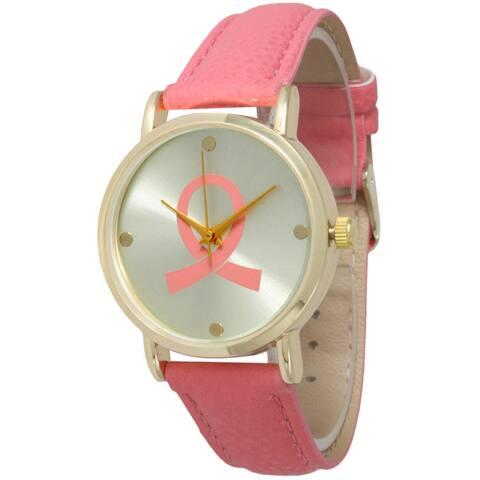 Olivia Pratt Women's Breast Cancer Awareness Ribbon Watch