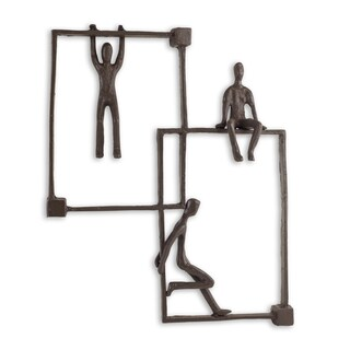 Danya B Playful 'Kids on Frames' Iron Wall Hanging