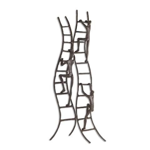 Danya B. Climbing to Success Stairway Iron Wall Hanging