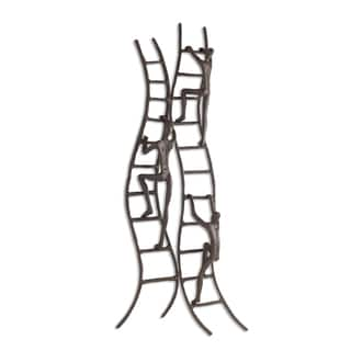 Danya B Climbing to Success Stairway Iron Wall Hanging