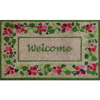 First Impression Summer Flower Welcome Coir Mat (1'5 x 2'5)