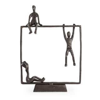 Danya B Playful Kids on Frame Bronze Sculpture|https://ak1.ostkcdn.com/images/products/10364834/P17472088.jpg?impolicy=medium