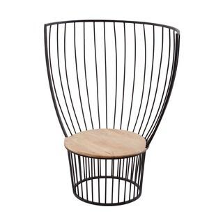 LS Dimond Home Teak & Metal Carousel Chair