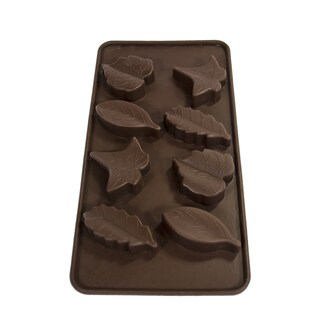Sorbus Silicone Brown Leaf Chocolate Mold (Set of 2)