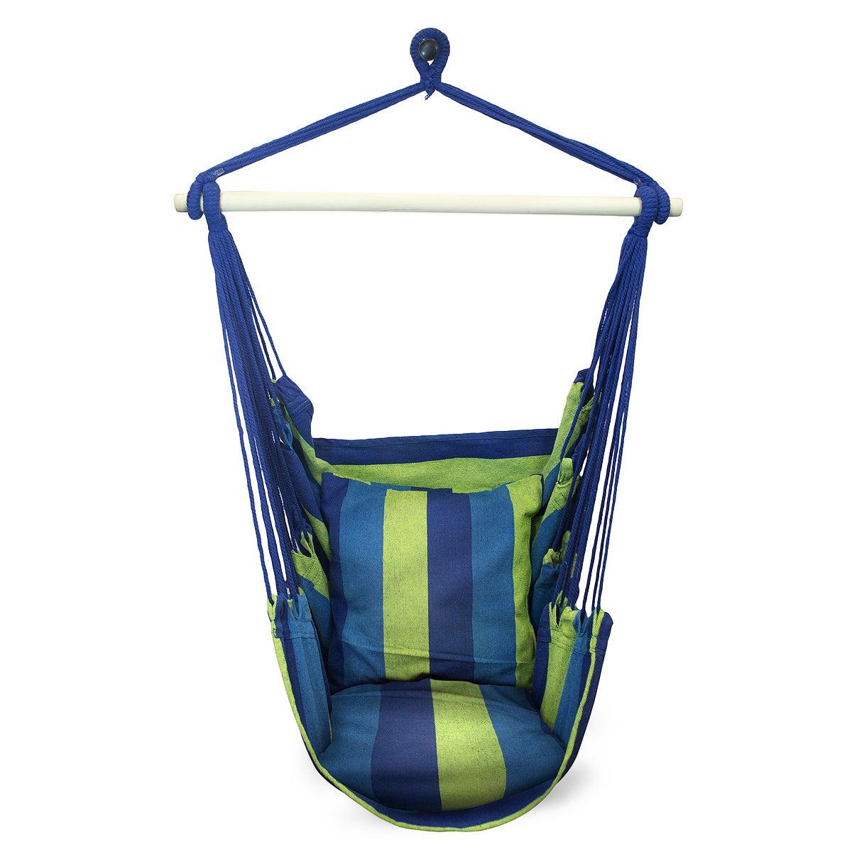 Sorbus Blue Hanging Rope Hammock Chair Swing Seat  sc 1 st  Overstock.com & Buy Hammocks u0026 Porch Swings Online at Overstock | Our Best Patio ...