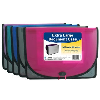 C-Line Products Extra Large Stitched Document Case (Set of 5 Cases)