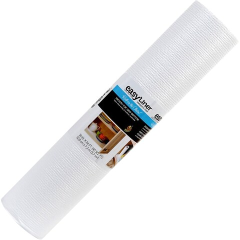 """Duck Smooth Top 20""""X 24 ft. Shelf Liner- White"""
