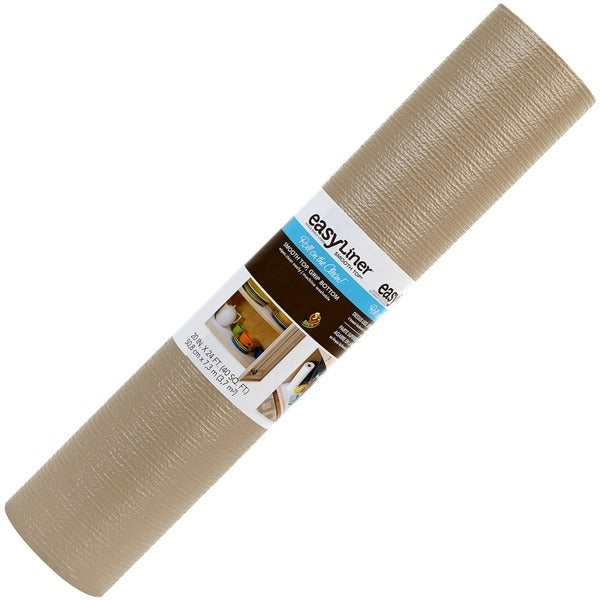"""Duck Smooth Top® 20""""X 24 ft. Shelf Liner- Taupe"""