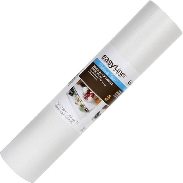 "Duck Solid 20""X 22 ft. Shelf Liner- White"