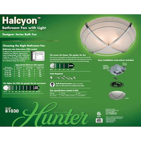 Hunter Halcyon 90 CFM Ceiling Exhaust Bath Fan with Light
