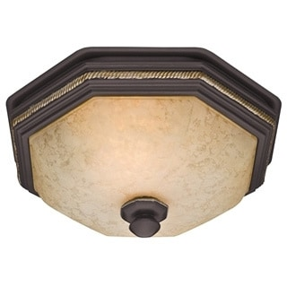 Hunter Belle Meade 80 CFM Ceiling Exhaust Bath Fan with Snowflake Glass