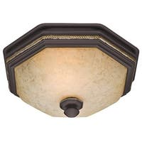 Hunter Belle Meade 80 CFM Ceiling Exhaust Bath Fan with Snowflake Glass - bronze